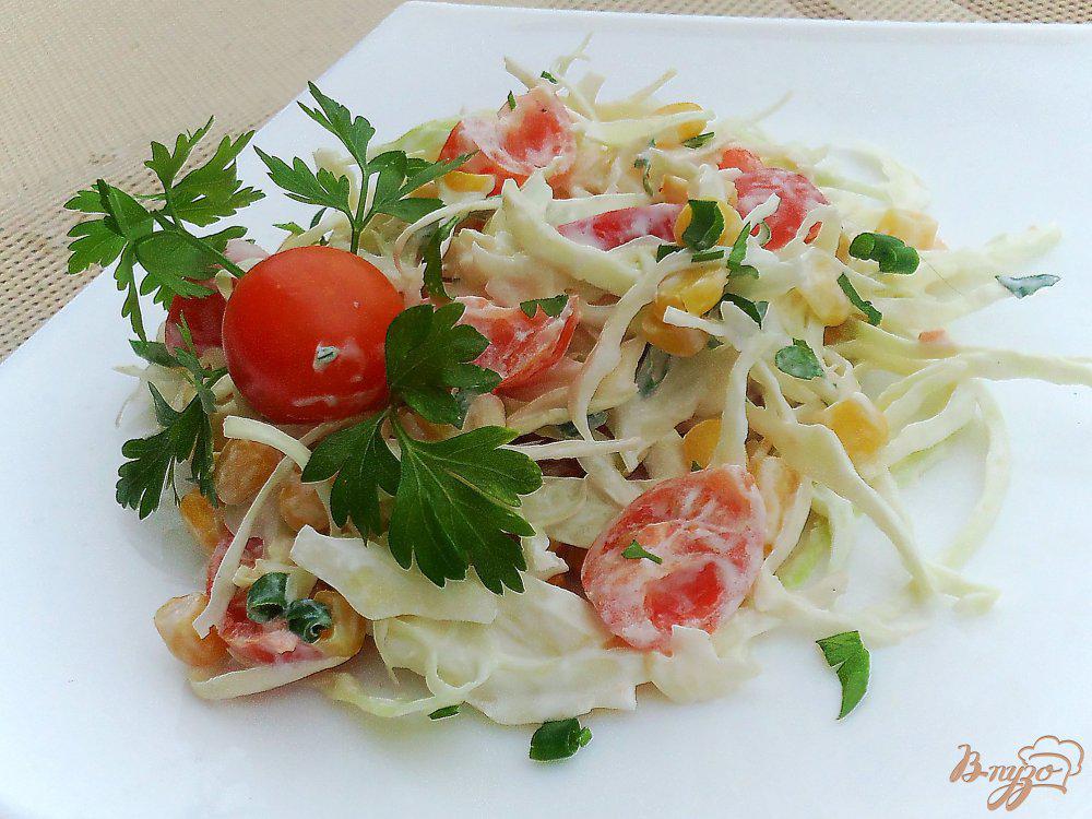 Салат с капустой и помидором для похудения