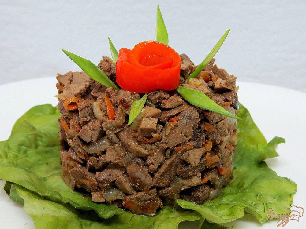 Салат из куриной печени рецепт с фото