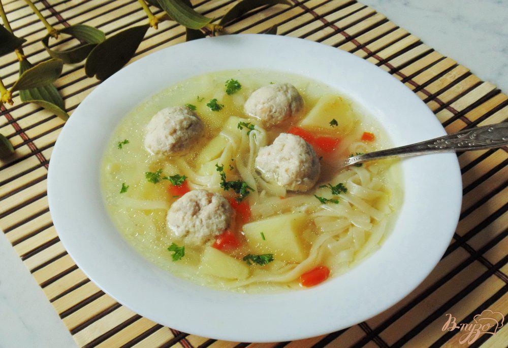 чуть картинки суп лапша с фрикадельками прожилок