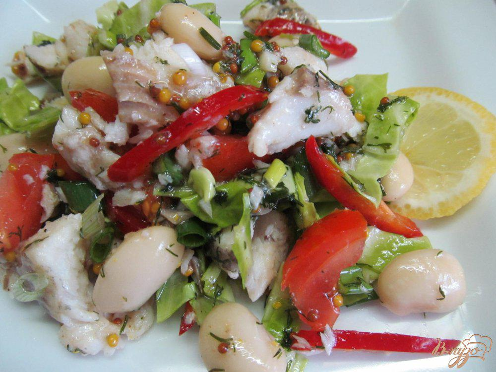 Салат из вареной рыбы рецепт с фото