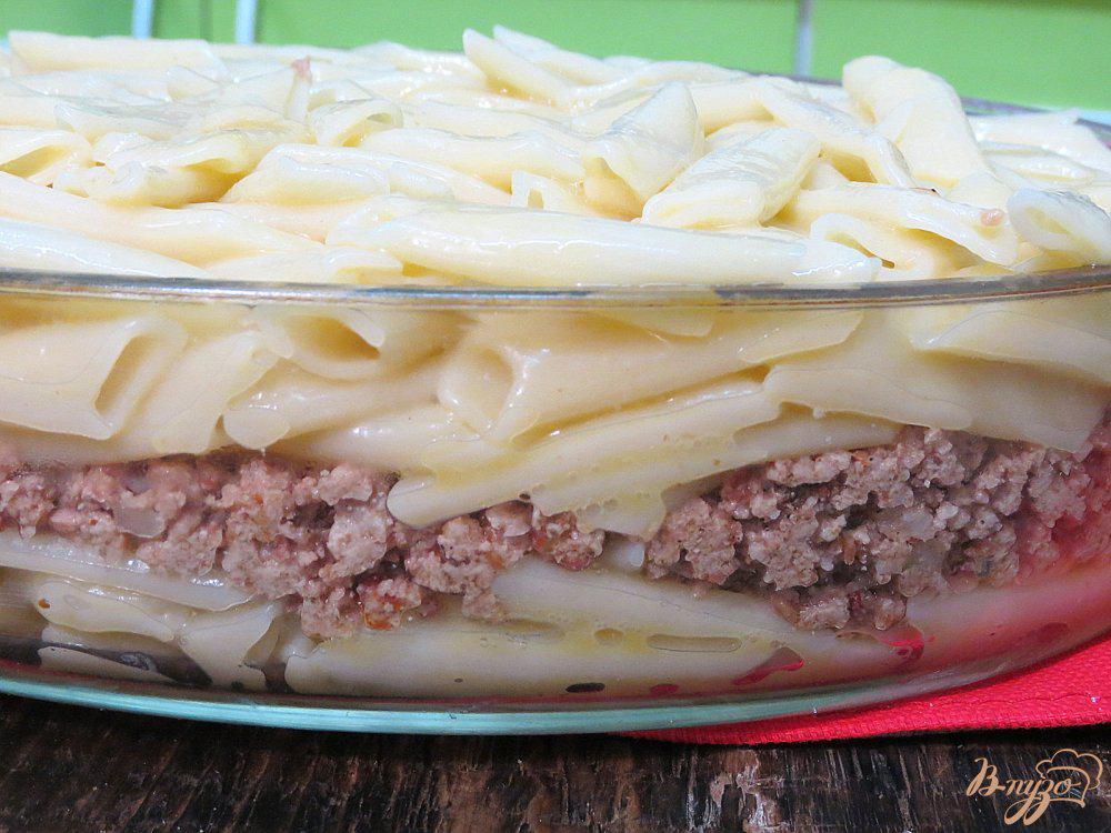 фото рецепт макаронной запеканки с фаршем затем