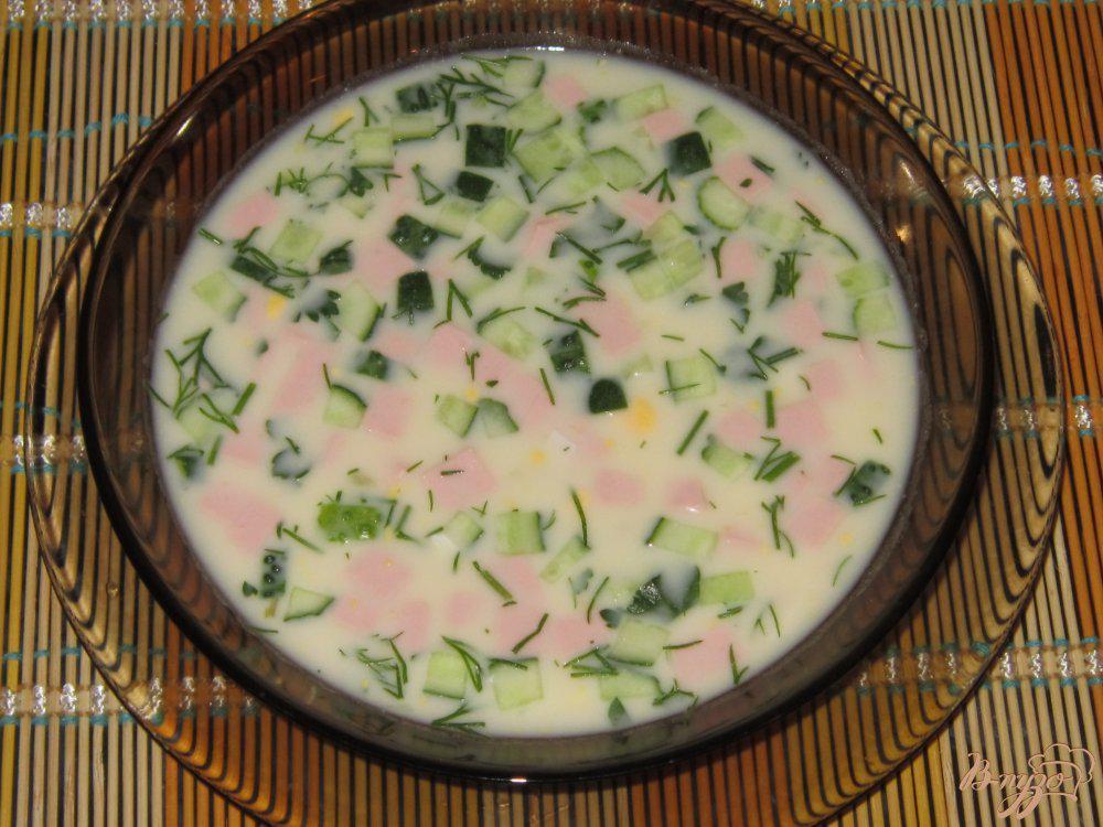 Окрошка на айране рецепт с фото