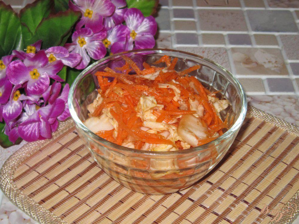 сегодняшней рецепт с картинкой капусты по корейски обожали давать