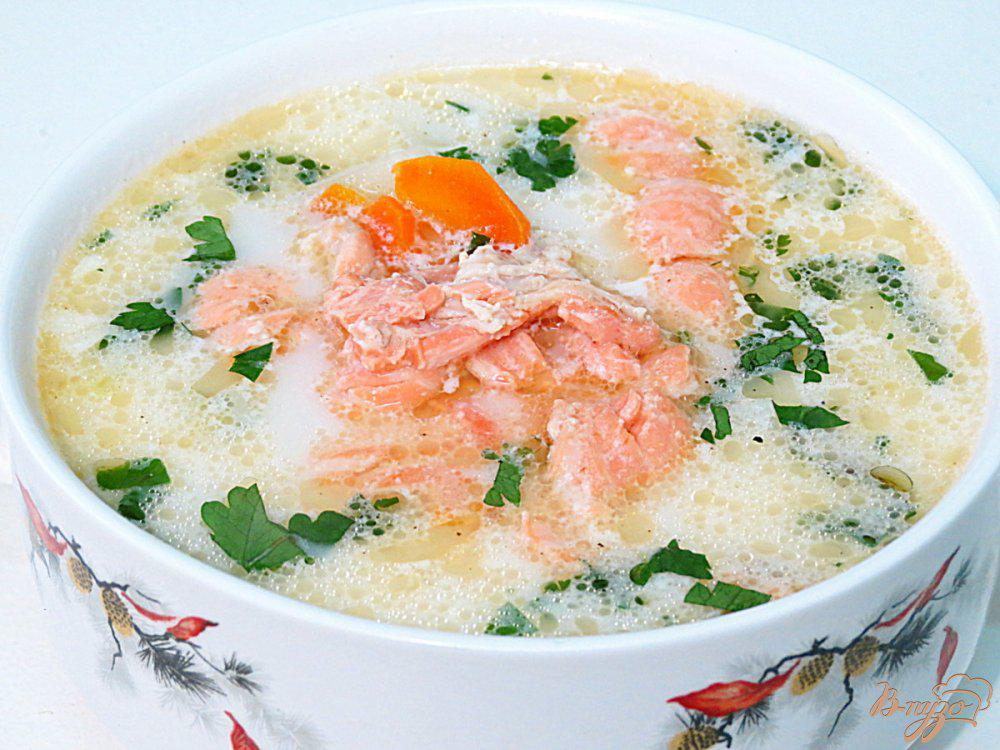 сливочный суп из семги рецепт с фото то