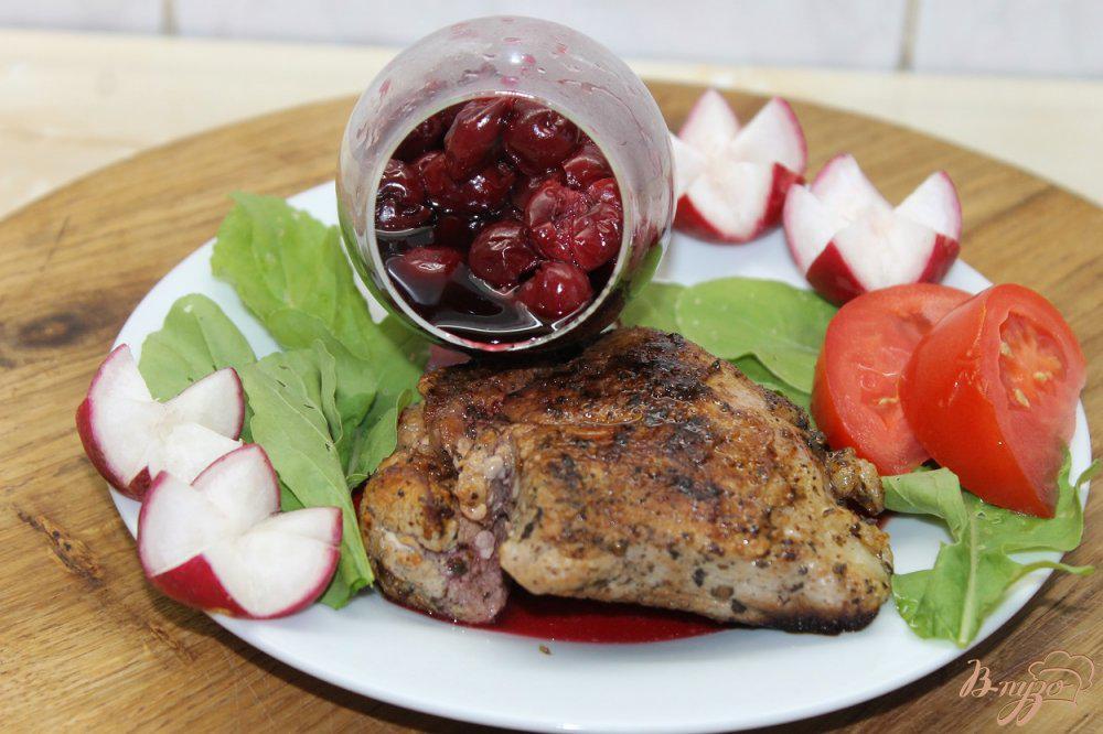 Свинина в вишневом соусе рецепт с фото