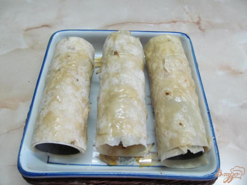 Фото приготовление рецепта: Трубочки из лаваша с творожной начинкой шаг №3