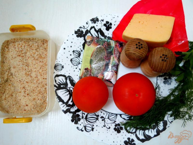 Фото приготовление рецепта: Помидоры жареные, с чесноком шаг №1