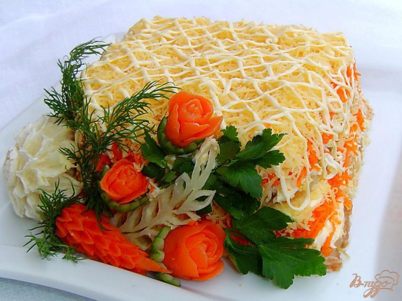 Фото приготовление рецепта: Салат «Нежность» шаг №9