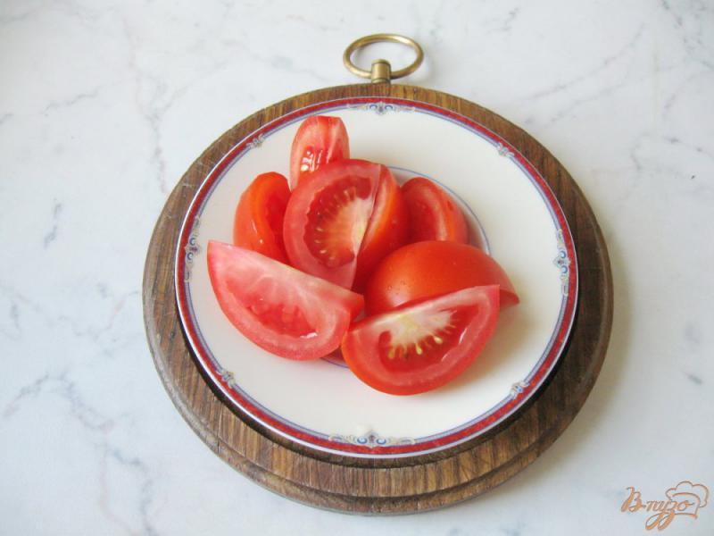 Фото приготовление рецепта: Помидоры в медово - соевом маринаде с чесноком и горчицей шаг №1
