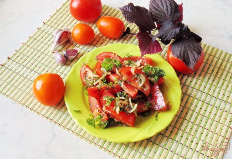 Фото приготовление рецепта: Помидоры в медово - соевом маринаде с чесноком и горчицей шаг №11