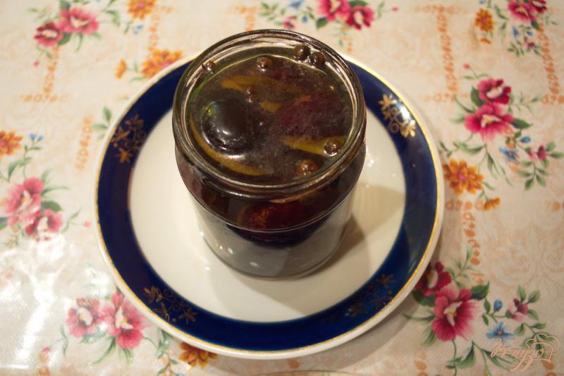 Фото приготовление рецепта: Маринованные сливы как закуска шаг №4