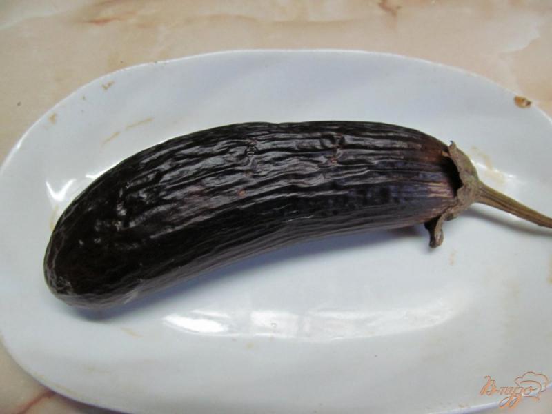 Фото приготовление рецепта: Бабагануш - намазка из баклажанов на завтрак шаг №2