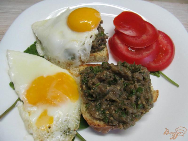 Фото приготовление рецепта: Бабагануш - намазка из баклажанов на завтрак шаг №8