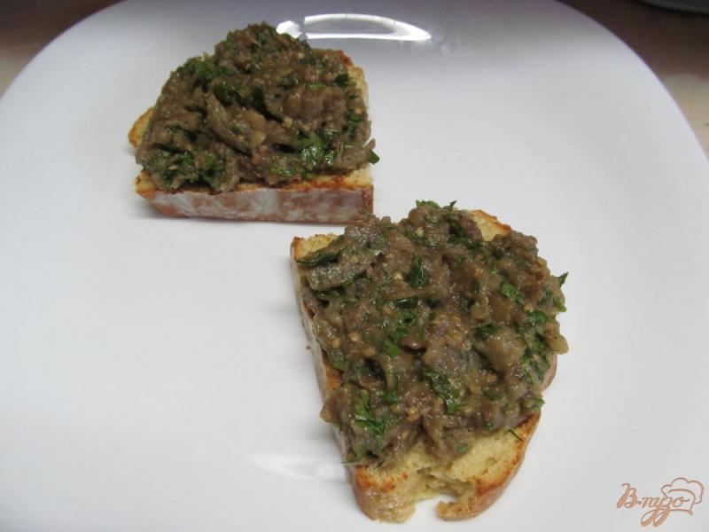 Фото приготовление рецепта: Бабагануш - намазка из баклажанов на завтрак шаг №6