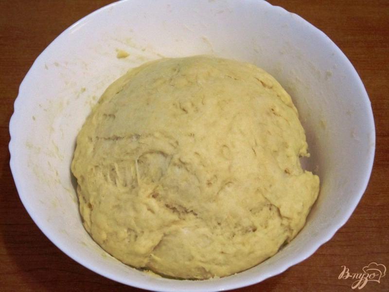 Фото приготовление рецепта: Пирог с копченой горбушей шаг №7