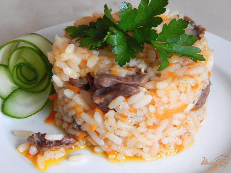 Фото приготовление рецепта: Куриные сердечки с рисом в мультиварке шаг №9