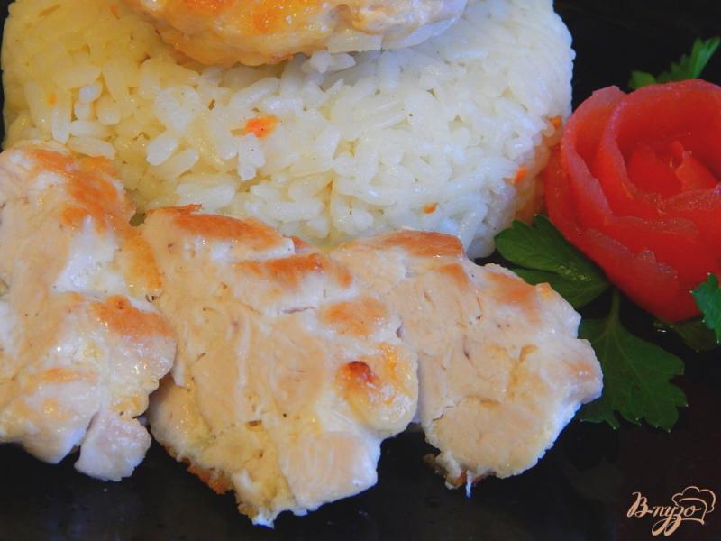Фото приготовление рецепта: Котлеты рубленые из куриной грудки с сыром шаг №9