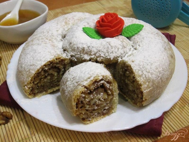 Фото приготовление рецепта: Болгарский сладкий пирог «Баница» шаг №12