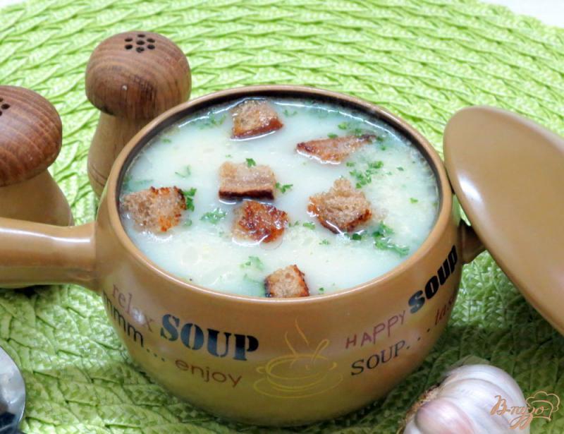 Фото приготовление рецепта: Венгерский чесночный суп шаг №13