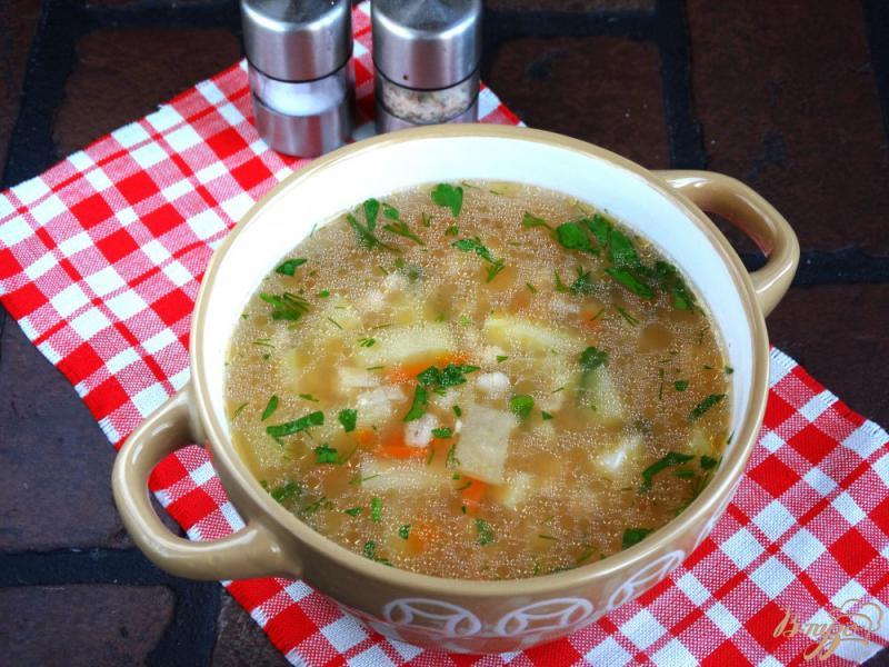 Фото приготовление рецепта: Перловый суп в мультиварке шаг №8
