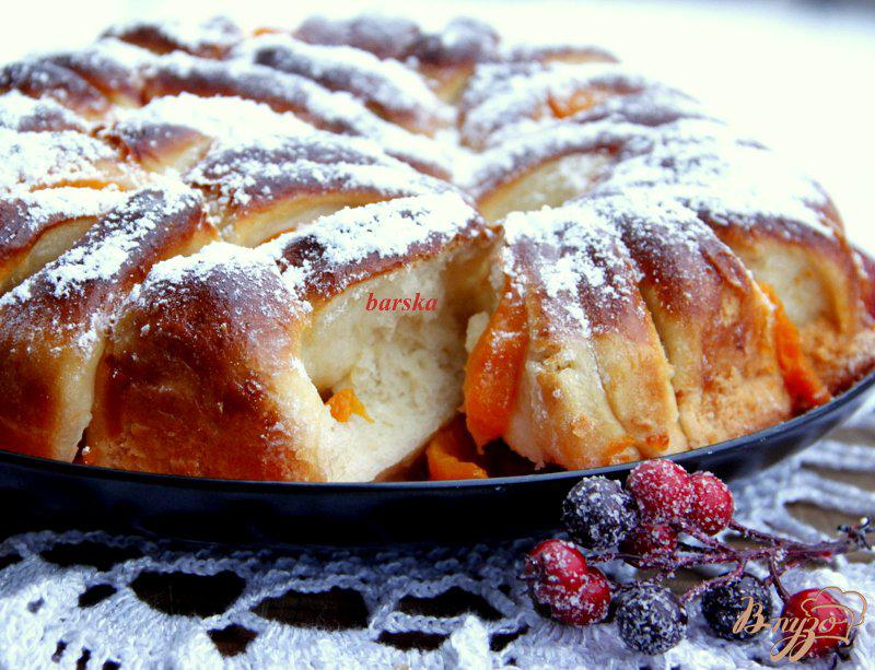 Фото приготовление рецепта: Пирог с персиками шаг №13