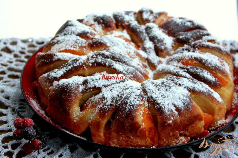 Фото приготовление рецепта: Пирог с персиками шаг №12