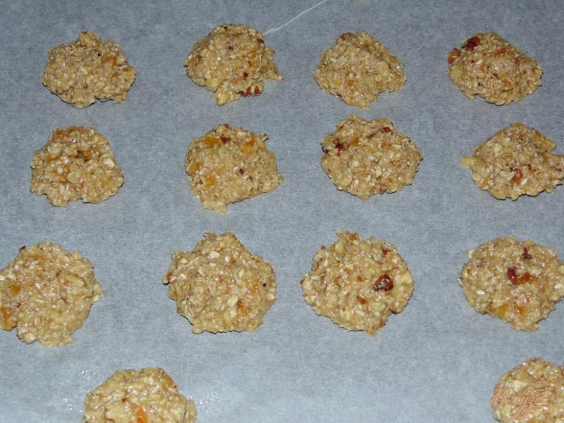Печенье из овсяных хлопьев с курагой - рецепт пошаговый с фото