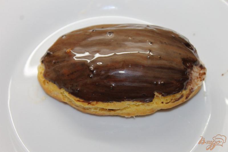 Фото приготовление рецепта: Заварное пирожное с творожным кремом внутри шаг №13