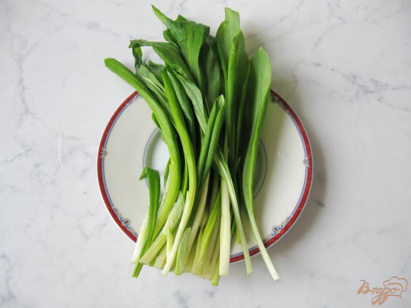 Фото приготовление рецепта: Весенний салат с огурцом, черемшой и помидором шаг №1