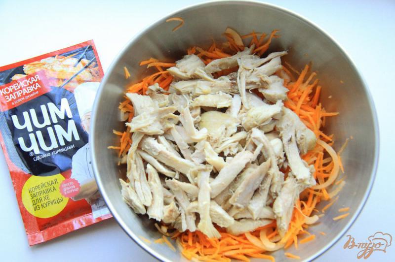 Фото приготовление рецепта: Хе из курицы с заправкой « Чим Чим » шаг №6