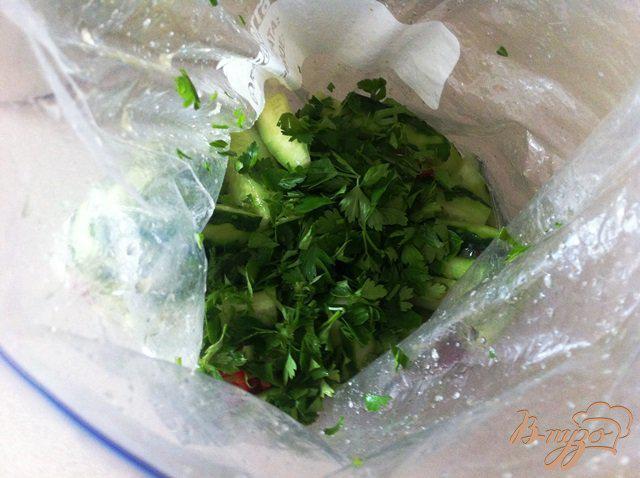 Фото приготовление рецепта: Малосольные огурчики с чили и чесноком шаг №4