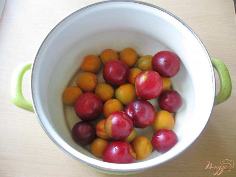 Фото приготовление рецепта: Компот из слив и абрикос шаг №2