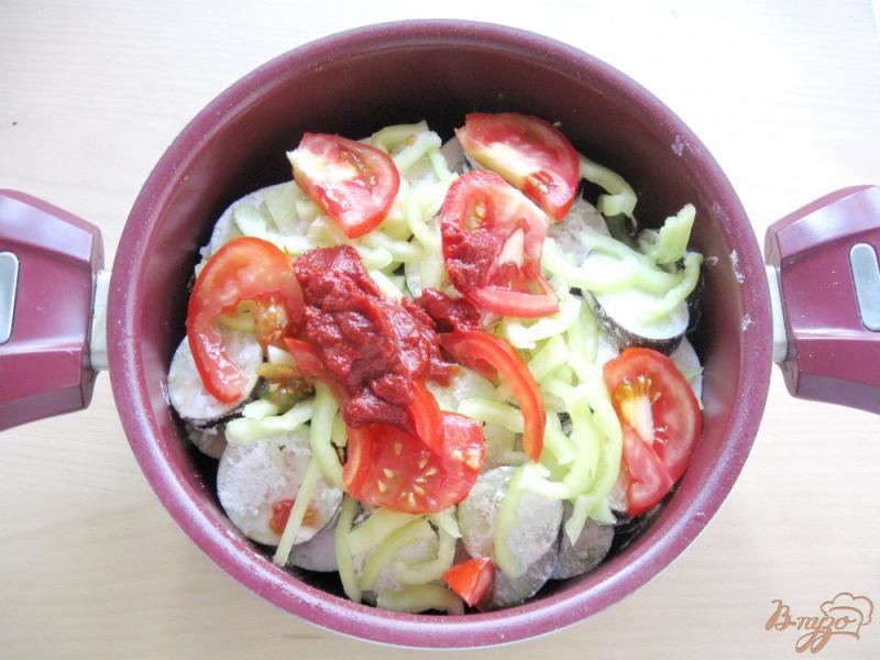 Фото приготовление рецепта: Соте из кабачков и баклажанов шаг №6