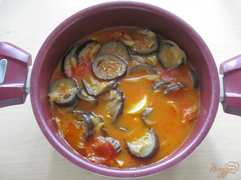 Фото приготовление рецепта: Соте из кабачков и баклажанов шаг №7