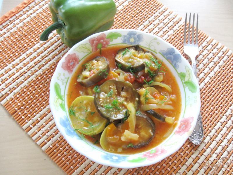 Фото приготовление рецепта: Соте из кабачков и баклажанов шаг №8