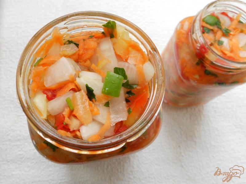 Фото приготовление рецепта: Заправка для супа на зиму шаг №5