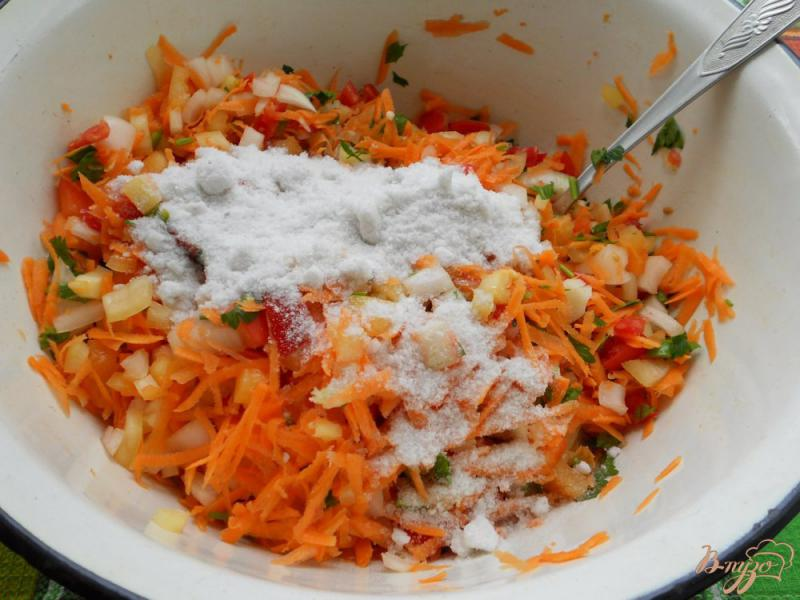 Фото приготовление рецепта: Заправка для супа на зиму шаг №4