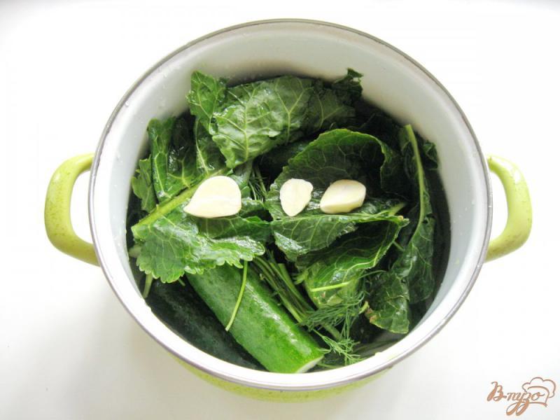 Фото приготовление рецепта: Малосольные огурцы шаг №3