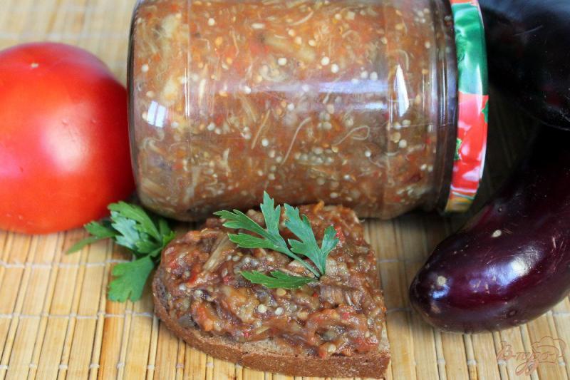 Фото приготовление рецепта: Печеные баклажаны с пряностями на зиму шаг №5
