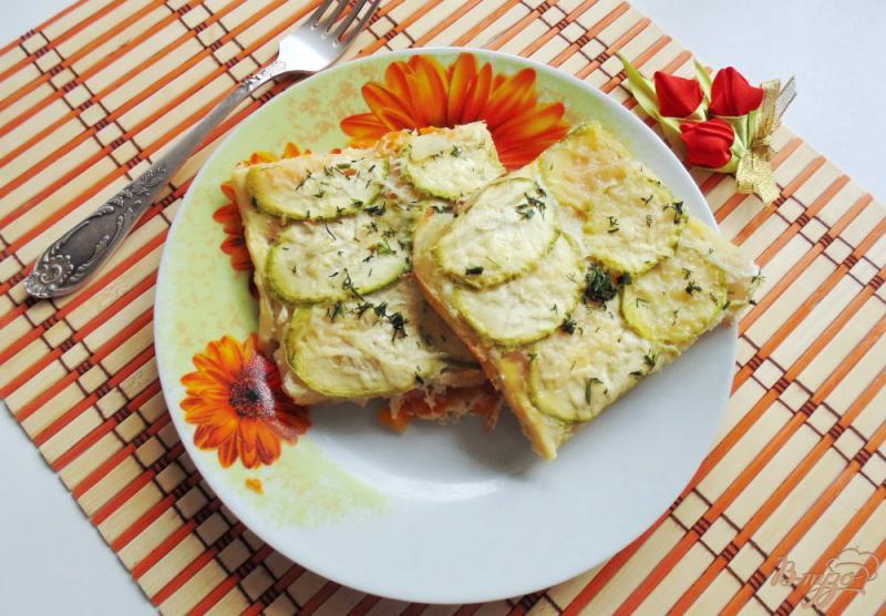 Фото приготовление рецепта: Запеканка из тыквы, кабачков и картофеля шаг №12