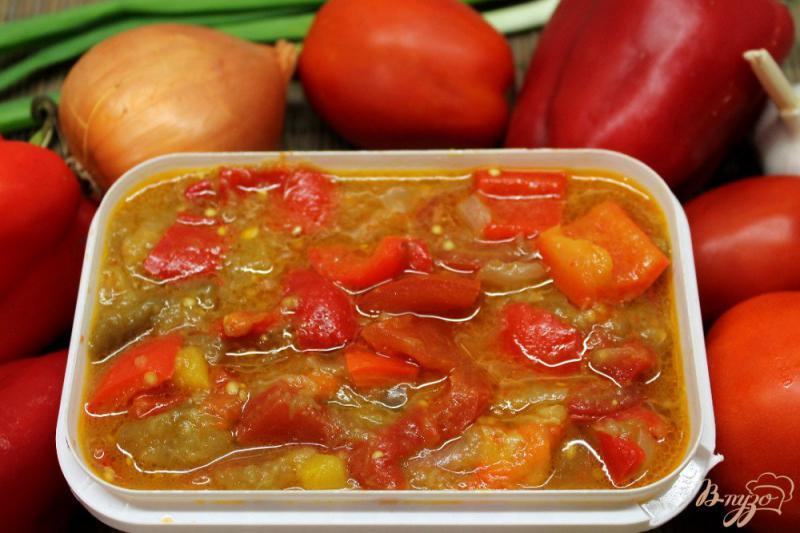Фото приготовление рецепта: Овощное гювече замороженное на зиму шаг №6