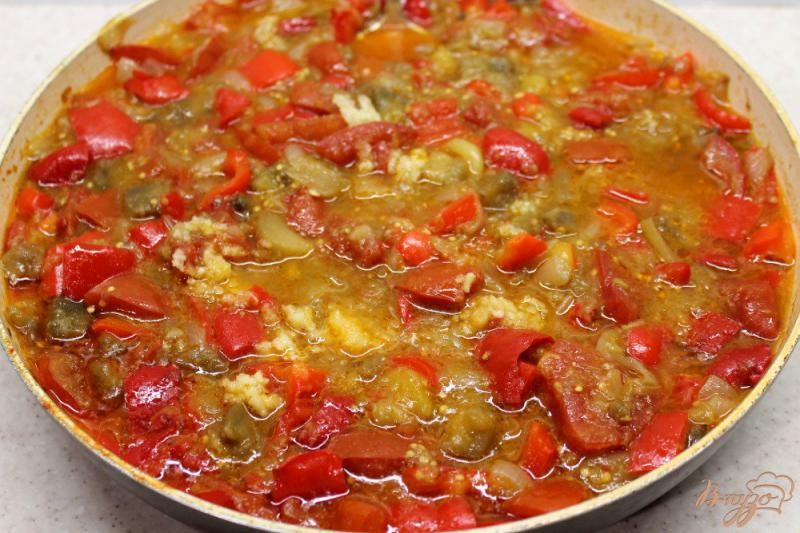Фото приготовление рецепта: Овощное гювече замороженное на зиму шаг №5
