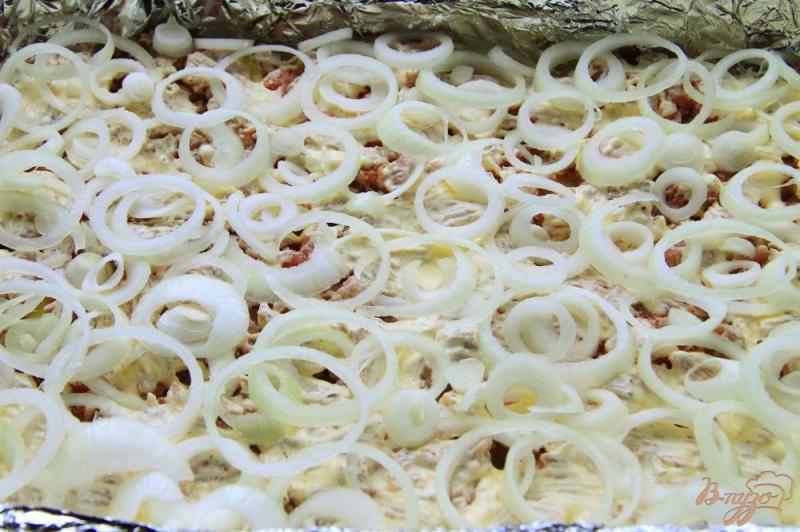 Фото приготовление рецепта: Овощная запеканка с фаршем шаг №3