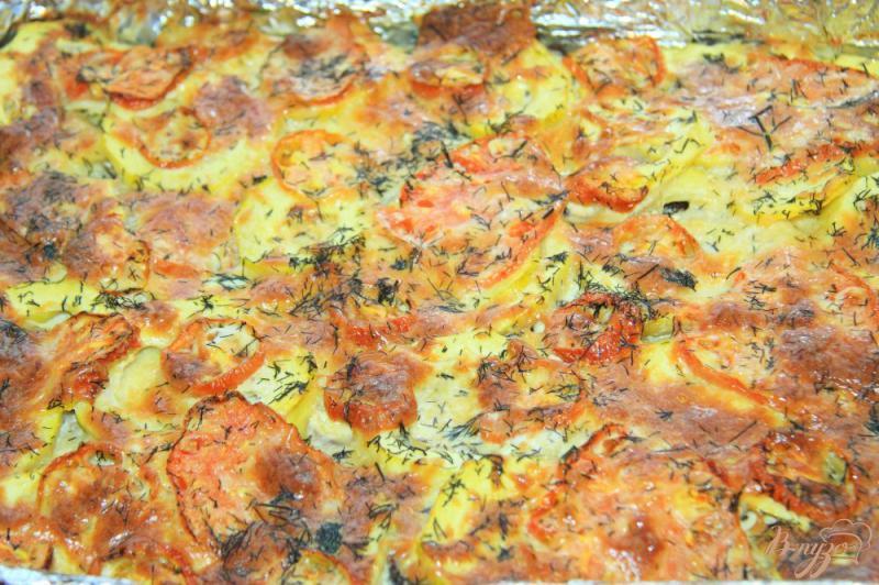 Фото приготовление рецепта: Овощная запеканка с фаршем шаг №10