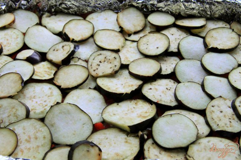 Фото приготовление рецепта: Овощная запеканка с фаршем шаг №5