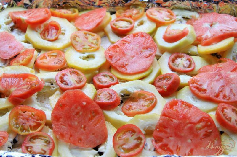 Фото приготовление рецепта: Овощная запеканка с фаршем шаг №7