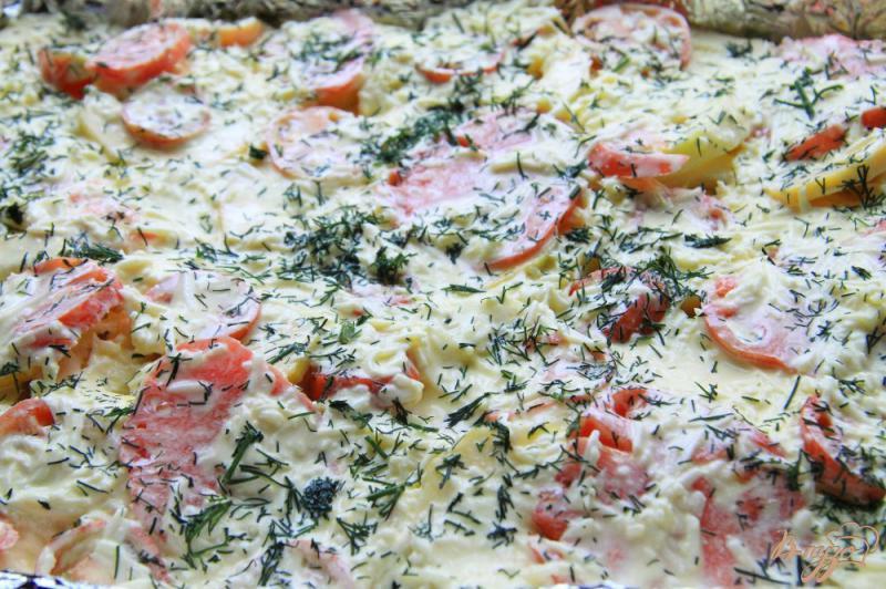 Фото приготовление рецепта: Овощная запеканка с фаршем шаг №9