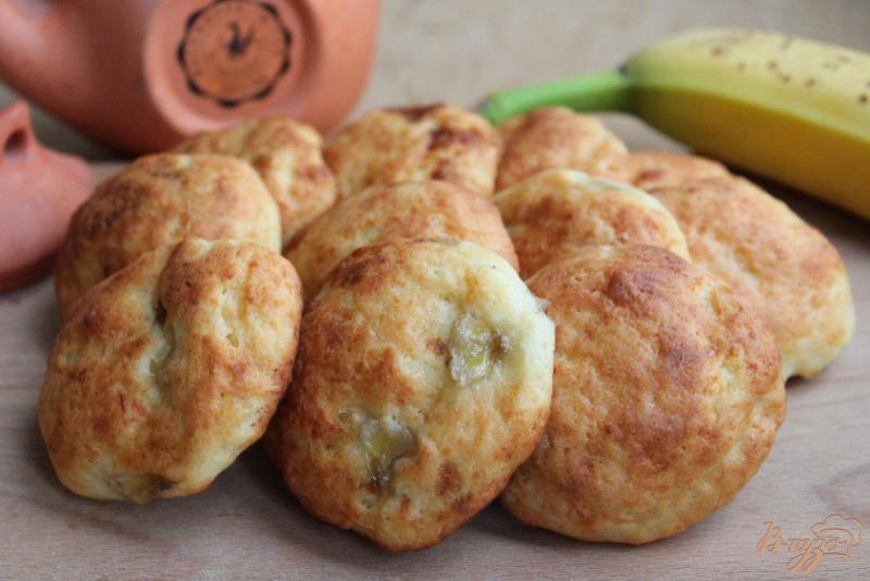 Фото приготовление рецепта: Творожное печенье с бананом шаг №6