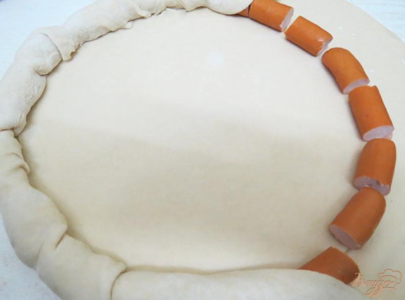 Пицца с ветчиной и сосисками - рецепт пошаговый с фото