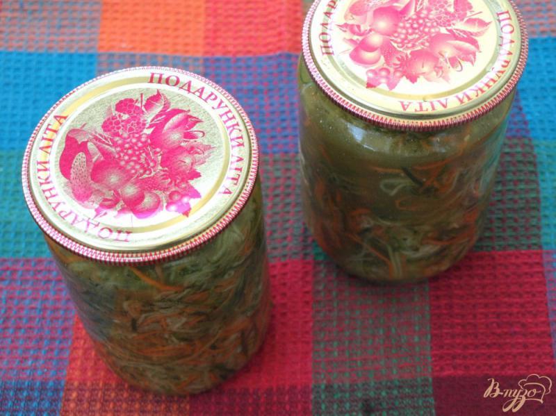 Фото приготовление рецепта: Салат из огурцов по-корейски на зиму шаг №4